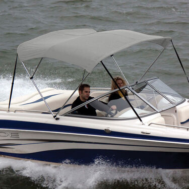 """Shademate Bimini Top Polyester Fabric and Boot Only, 3-Bow 6'L, 36""""H, 61""""-66""""W"""