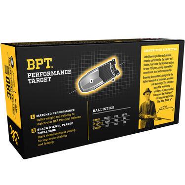 Browning BPT Performance Target Handgun Ammunition, .380 ACP, 95-gr., FMJ