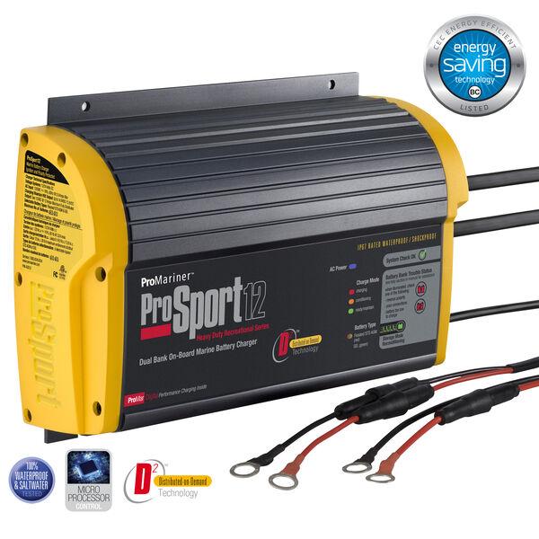 ProMariner ProSport Generation 3 Marine Battery Charger, 12-Amp/Dual Bank