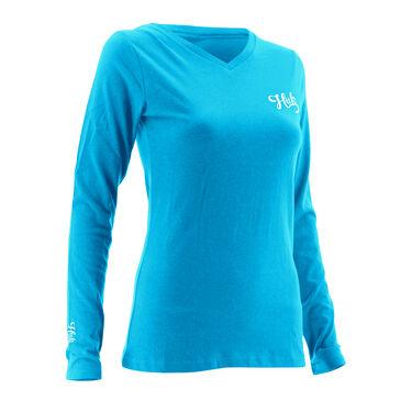 HUK Women's Logo Long-Sleeve V-Neck Tee