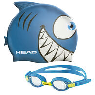 Head Meteor Kid's Goggles And Swim Cap Set