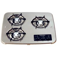 3 Burner Drop-In Cooktop, Stainless top