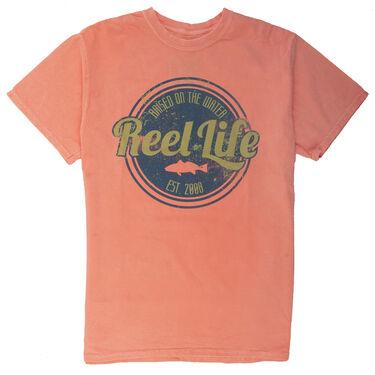 Reel Life Men's Raised On The Water Vintage Circle Short-Sleeve Tee