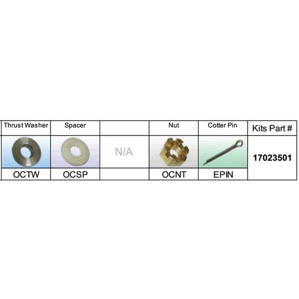Solas 17023501 Propeller Kit for BRP/Johnson/Evinrude/OMC 40-75 HP