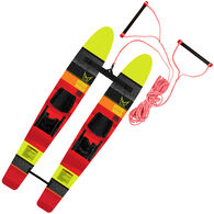 HO Skis Hot Shot Trainer Water Skis With Rope