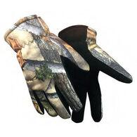 Hand Armor Men's Camo Fleece Glove with Deerskin Suede Palm