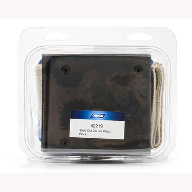 Camco Slide-Out Corner Plates, set of 4, Black