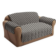 Sam Salem & Son Paw Print Love Seat Cover, Gray/Black
