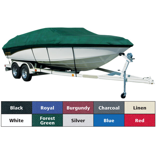 Sharkskin Plus Exact-Fit Cover for Chaparral 206 SSI Bowrider w/Bimini Laid Aft