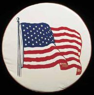 American Flag Spare Tire Cover, 34""