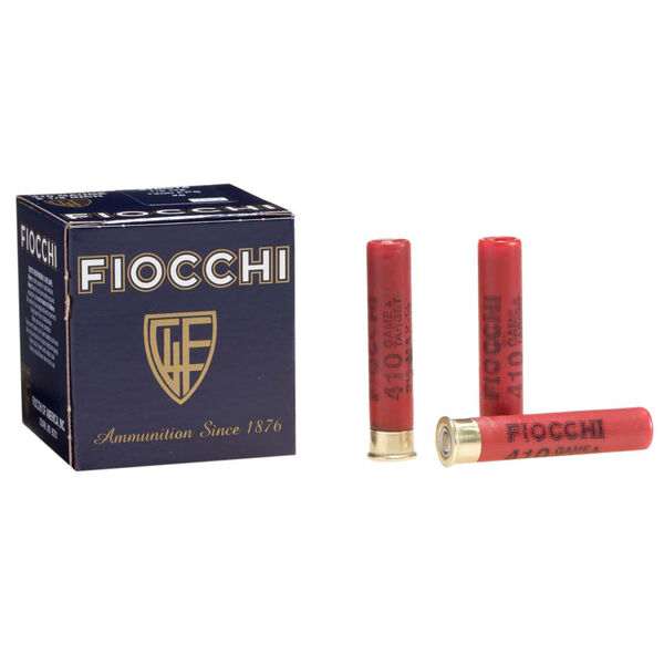 "Fiocchi Game & Target Load, .410 Bore, 2-1/2"", 1/2 oz., #8"