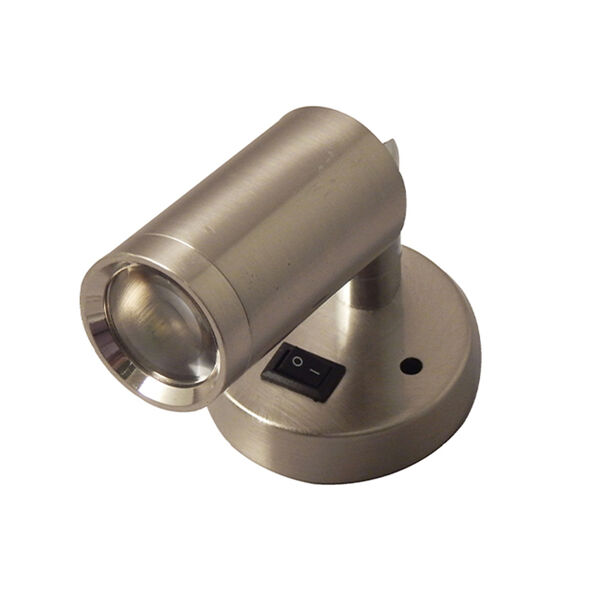 Gustafson LED Reading Light with Switch, Satin Nickel
