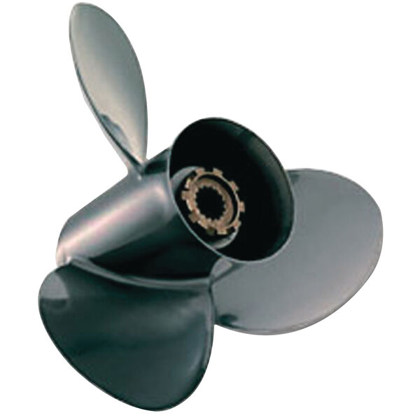 "Quicksilver Black Diamond 3-Blade Prop w/Hub / Aluminum 9.25"" dia x 9"", RH"