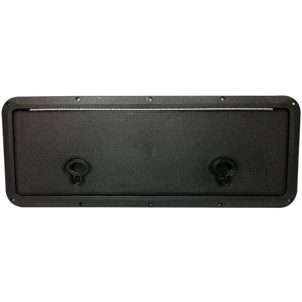 "DPI Marine DPF Black Flush Series Hatch Door, 9"" x 18"" O.D. frame"