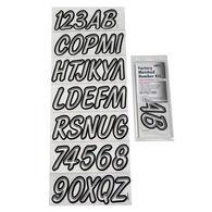 Hardline 400 Series Clear/Black Registration Kit, Airbrush Font