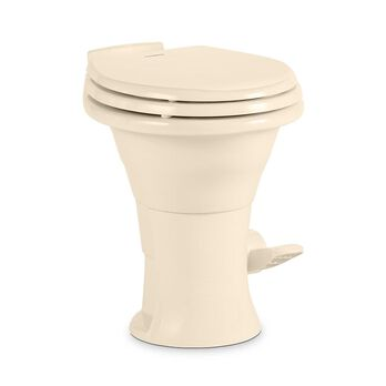 Dometic 310 Series Low Profile Gravity Discharge Toilet, Bone