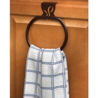 Leaf Over-Cabinet Towel Ring, Bronze Finish