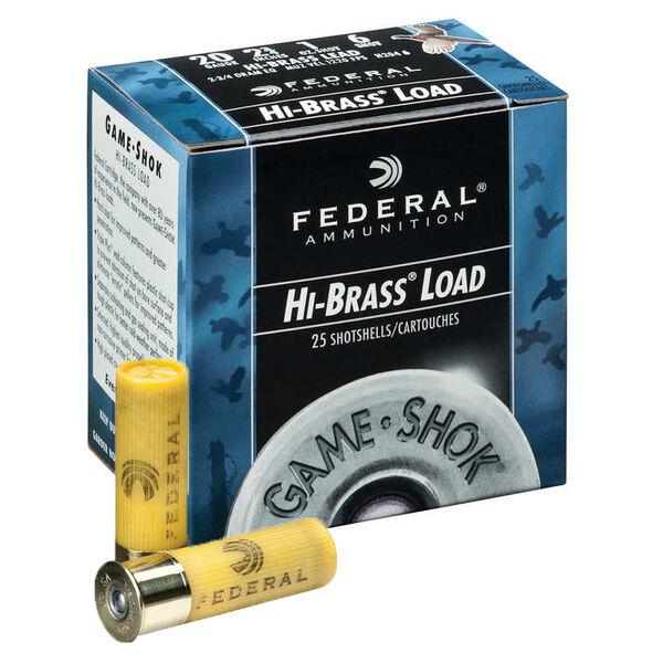 "Federal Premium Game-Shok Hi-Brass Loads, .410 bore, 2-1/2"", 1/2-oz, #6"