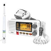 Uniden Oceanus D UM415 VHF Radio Package, White w/Shakespeare 5206-N Antenna