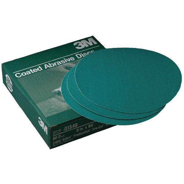 3M Stikit Green Corps Abrasive Paper Discs, Grade 36E