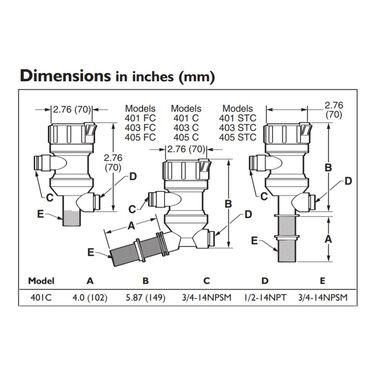 Rule Angled Livewell Pump, 500 GPH