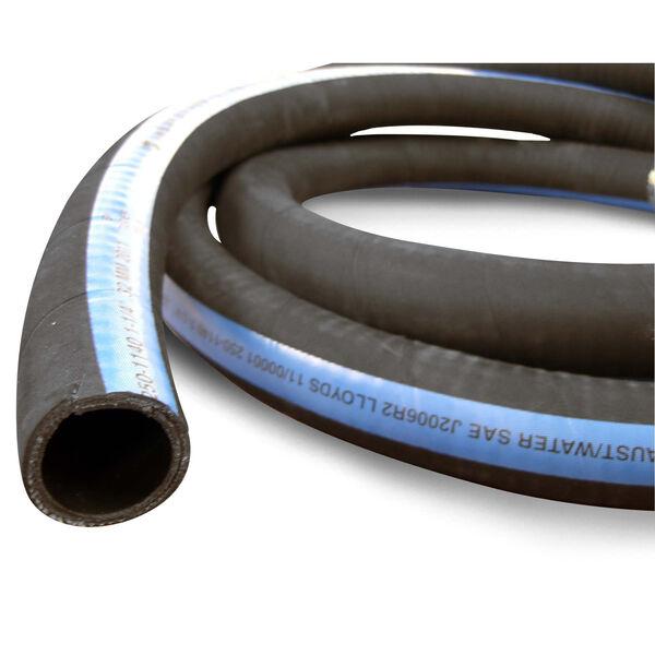 "Shields ShieldsFlex II 2-1/4"" Water/Exhaust Hose With Wire, 10'L"