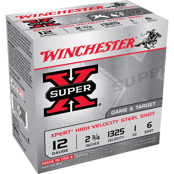 "Winchester XPert Steel Loads, 12-ga., 2-3/4"", 1-oz., #6"