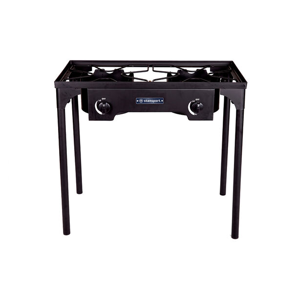 Stansport 2-Burner Base Camp Stove with Stand