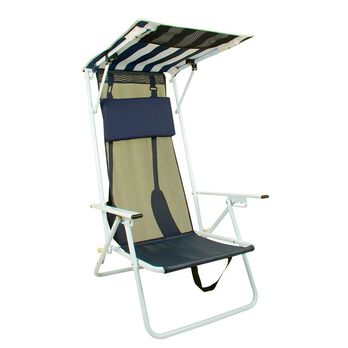 Quik Shade Folding Beach Chair, Navy Blue
