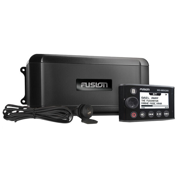 Fusion BB300R Marine Black Box Receiver With NRX300 Wired Remote