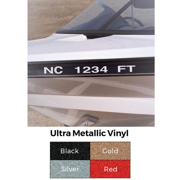 Custom Ultra Metallic Vinyl Registration Numbers, 2 sets