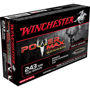 Winchester Super-X Power Max Bonded Rifle Ammo, .243 Win, 100-gr., PHP