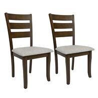 Kathy Ireland Furniture Georgia Oak Fixed Chairs, pair