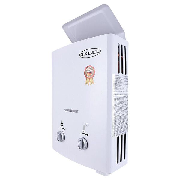 Excel Vent-Free Tankless Propane Water Heater, Low Pressure Startup, 1.6GPM