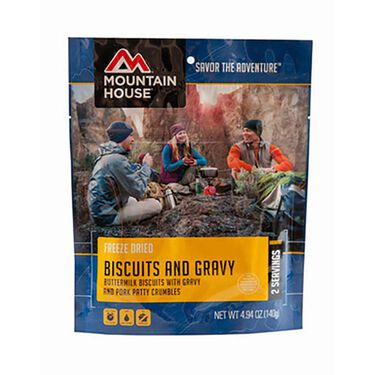 Mountain House Biscuits and Gravy Freeze-Dried Meal Pouch