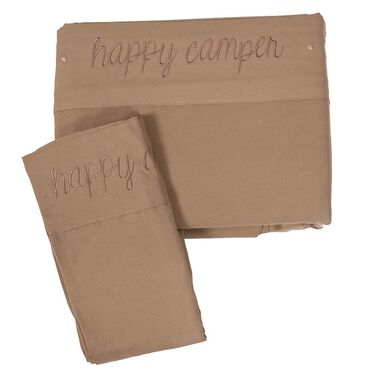 Happy Camper, RV King, Taupe