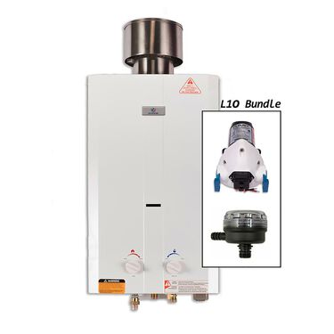 Eccotemp L10 Portable Tankless Water Heater with Flojet Pump and Strainer
