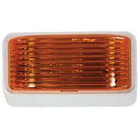 12V Universal Porch/Utility Light with Amber Lens and White Base