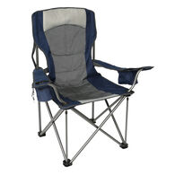 Adjustable Lumbar Chair, Gray/Blue
