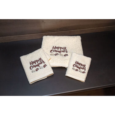 Happy Camper RV Bath Towel Set, 3 Piece