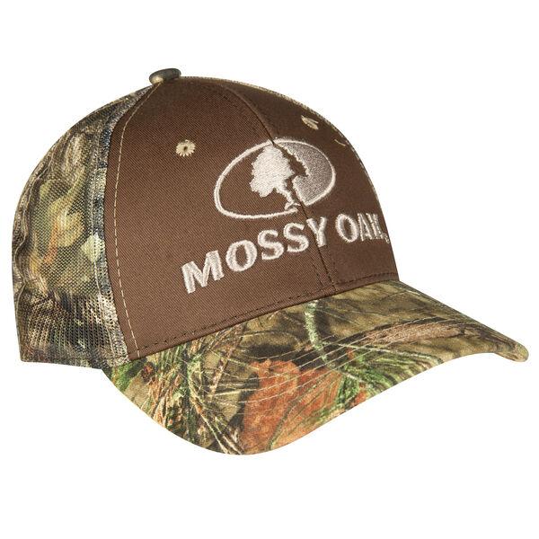 Mossy Oak Men's Camo Logo Mesh-Back Cap