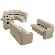 Toonmate Premium Pontoon Furniture Rear Entry Wraparound Package, Mocha