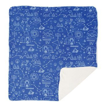"""Camp Life Throws, 50"""" x 60"""", Blue"""