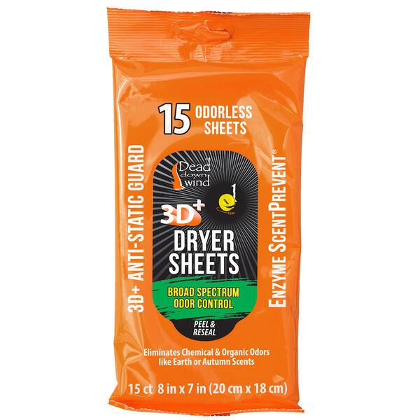 Dead Down Wind e1 ScentPrevent Dryer Sheets, 15-Pack