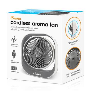 "Crane 4.5"" Cordless Aromatherapy Diffuser Fan"