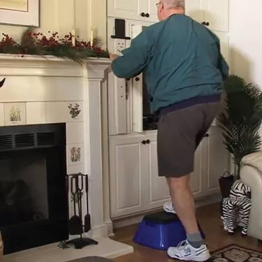 Safe-T-Stool Anti Tip Step Stool, Blue