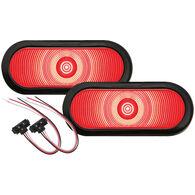 "Optronics One Series LED 6"" Oval Sealed Tail Lights Kit, Pair"
