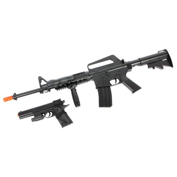 Colt DPMS M4 On Duty Airsoft Kit w/ Colt M4 R.I.S. Rifle, Colt 1911 Pistol