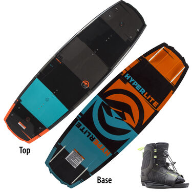 Hyperlite Franchise 128 Wakeboard With Child Remix Bindings