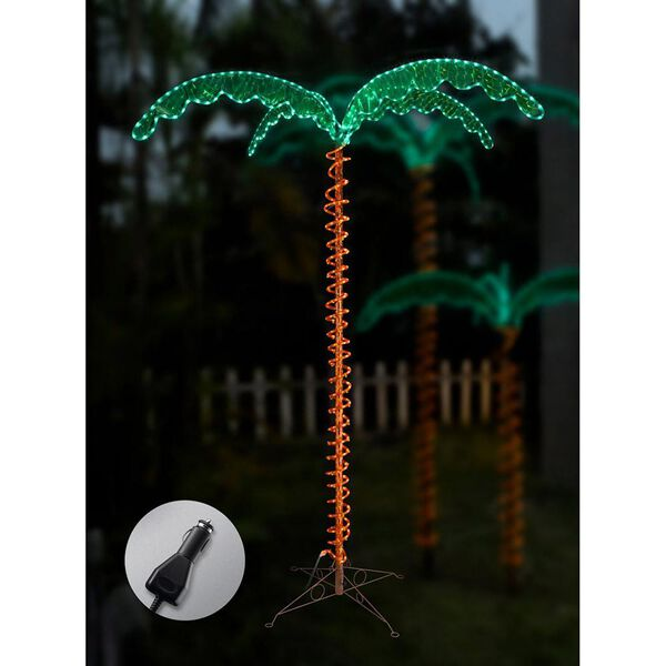12V LED Palm Tree Rope Light, 7'